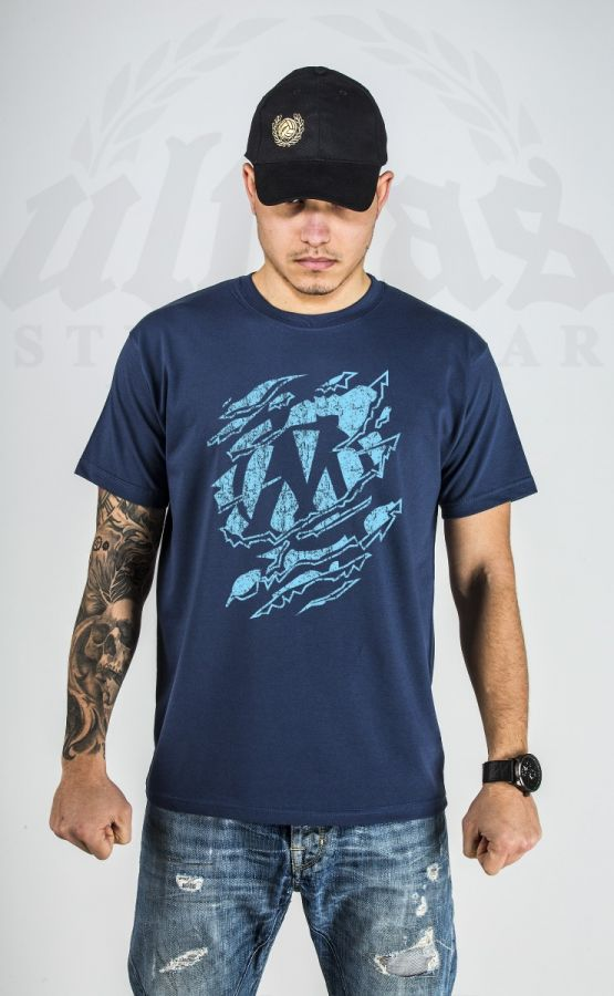 "T-shirt ""Marseille"" Blue & Denim"